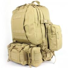 Deltacs 3-Day Assault Tactical Camping Backpack - Tan
