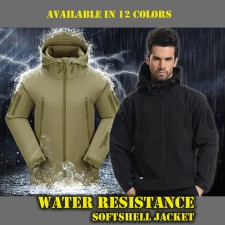 Deltacs Shark Skin SoftShell Water Resistant Combat Jacket - (12 Colors)