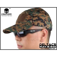 EMERSON Velcro Baseball Cap (EM8538) - Digital Woodland