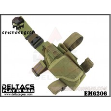 EMERSON Tornado Universal Tactical Thigh Holster (EM6206) - OD Green (Right Handed)