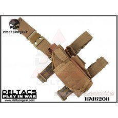EMERSON Tornado Universal Tactical Thigh Holster (EM6208) - Coyote Brown (Right Handed)