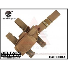 EMERSON Tornado Universal Tactical Thigh Holster (EM6208A) - Coyote Brown (Left Handed)