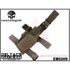 EMERSON Tornado Universal Tactical Thigh Holster (EM6209) - Foliage Green (Left Handed)