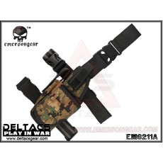 EMERSON Tornado Universal Tactical Thigh Holster (EM6211A) - Digital Woodland (Left Handed)