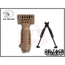 Big Dragon T-POD Tactical Foregrip Bipod - Dark Earth