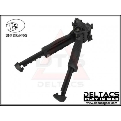 Big Dragon T-POD G2 PR Vertical Foregrip Bipod - Black