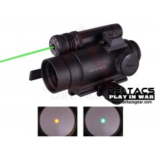 Aimpoint Style Comp M4 Red/Green Dot Sight with Green Aiming Laser and Killflash - Black