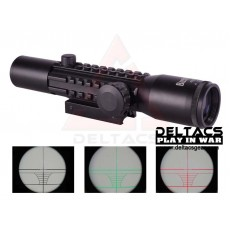 Bushnell Style 4X28EG Red/Green Illuminated Weaver Slots(Side Rail) Rifle Scope with Scope Mount
