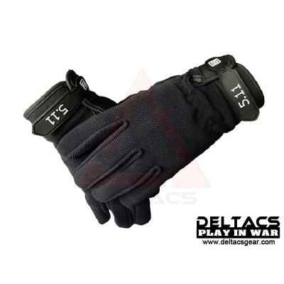 Deltacs Tactical Full Finger Skidproof Gloves - Black (M-XL)