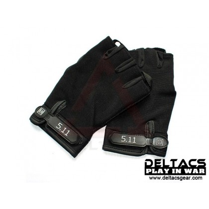 Deltacs Tactical Half Finger Skidproof  Gloves - Black (M-XL)