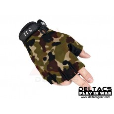 Deltacs Tactical Half Finger Skidproof Gloves - Multicam (M-XL)