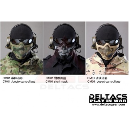 Deltacs CM01 Metal Mesh Lower Half Mask - Black
