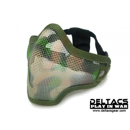Deltacs CM01 Metal Mesh Lower Half Mask - Woodland