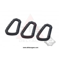 FMA Carabiner D-ring Quick Hook Set of 3 - Black