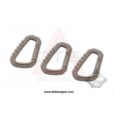 FMA Carabiner D-ring Quick Hook Set of 3 - Dark Earth