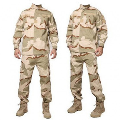 Deltacs Military Battle Dress Uniform(BDU) Set - 3 Color Desert (XS-XXL)