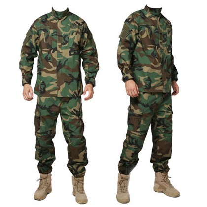 Deltacs Military Battle Dress Uniform(BDU) Set - Woodland (XS-XXL)