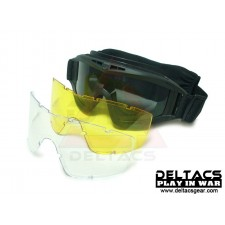 Deltacs Tactical Locust Goggles Essential Kit with 3 Lens - Black