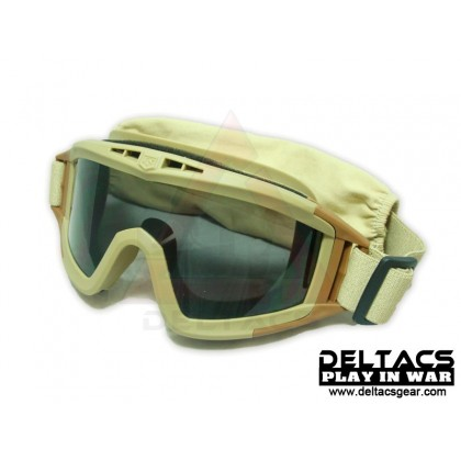 Deltacs Tactical Locust Goggles Essential Kit with 3 Lens - Dark Earth