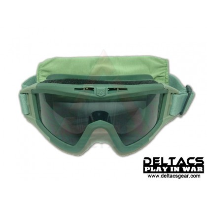Deltacs Tactical Locust Goggles Essential Kit with 3 Lens - OD Green