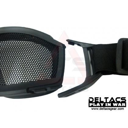 Deltacs Wire Mesh Tactical Locust Goggles - Black
