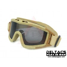 Deltacs Wire Mesh Tactical Locust Goggles - Dark Earth