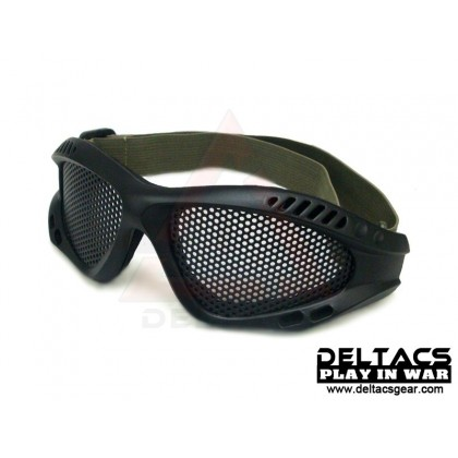 Deltacs Wire Mesh Shooting Goggles - Black