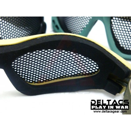 Deltacs Wire Mesh Shooting Goggles - Dark Earth