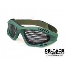 Deltacs Wire Mesh Shooting Goggles - OD Green
