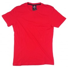Deltacs Round Neck Plain Tee - Red