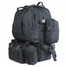 Deltacs 3-Day Assault Tactical Camping Backpack - Black