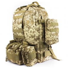 Deltacs 3-Day Assault Tactical Camping Backpack - Digital Desert