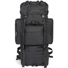 Deltacs 65 Litre Large Camping/Hiking Backpack - Black