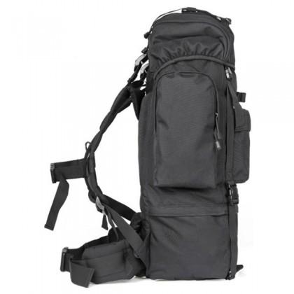 Deltacs 65 Litre Large Camping/Hiking Backpack - Black