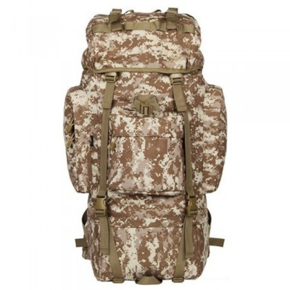 Deltacs 65 Litre Large Camping/Hiking Backpack - Digital Desert