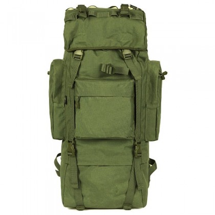 Deltacs 65 Litre Large Camping/Hiking Backpack - OD Green