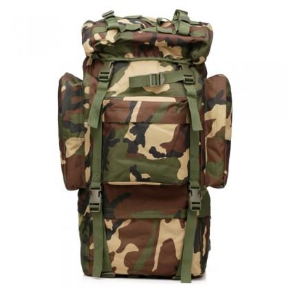 Deltacs 65 Litre Large Camping/Hiking Backpack - Woodland