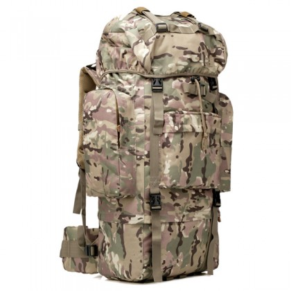 Deltacs 65 Litre Large Camping/Hiking Backpack - Multicam