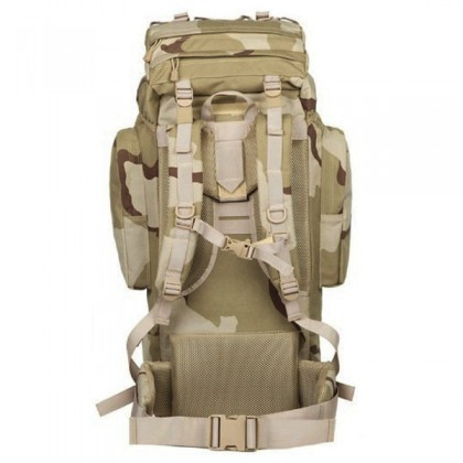 Deltacs 65 Litre Large Camping/Hiking Backpack - 3 Color Desert