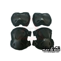 Deltacs X-TAK Knees & Elbows Protector Set - Black