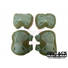 Deltacs X-TAK Knees & Elbows Protector Set - OD Green