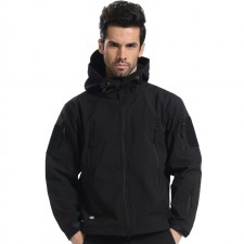 Deltacs Shark Skin SoftShell Water Resistant Combat Jacket - Black