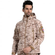 Deltacs Shark Skin SoftShell Water Resistant Combat Jacket - Digital Desert