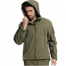 Deltacs Shark Skin SoftShell Water Resistant Combat Jacket - OD Green