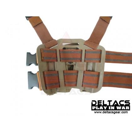 Deltacs CQC Drop leg Tactical Holster w/Magazine & Light Case forGlock - Tan