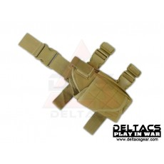 Deltacs Tornado Universal Tactical Thigh / Drop Leg Holster - Tan