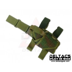 Deltacs Tornado Universal Tactical Thigh / Drop Leg Holster - Woodland