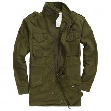 Military Combat Airborne Long Jacket - OD Green