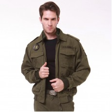 Military Commando Airborne Jacket - OD Green