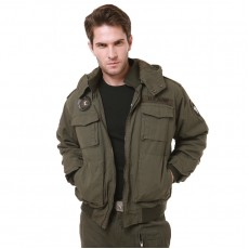 Military Operator Airborne Hoodie Jacket - OD Green